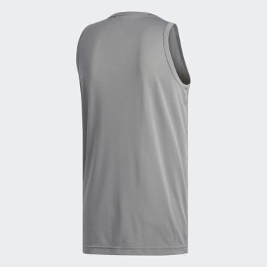 Débardeur chiné gris Hommes Basketball