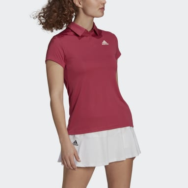 Women Tennis Pink HEAT.RDY Tennis Polo Shirt