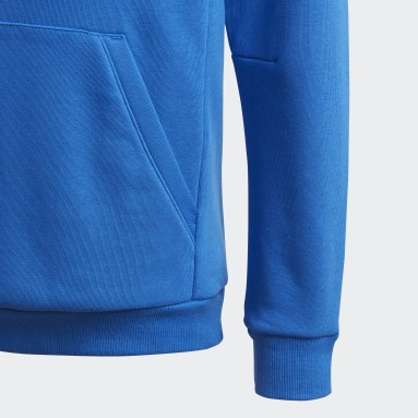 Buzo Must Haves Badge of Sport Azul Niño Diseño Deportivo