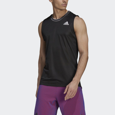 T-shirt  Tennis Primeblue Sleeveless Noir Hommes Tennis