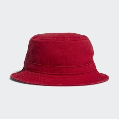 Originals Red Washed Bucket Hat