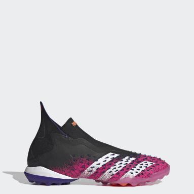 Men's Soccer Black Predator Freak+ Laceless Turf Shoes