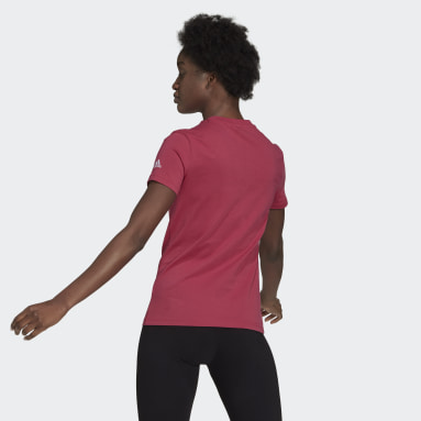 Frauen Sportswear Essentials Slim Logo T-Shirt Rosa