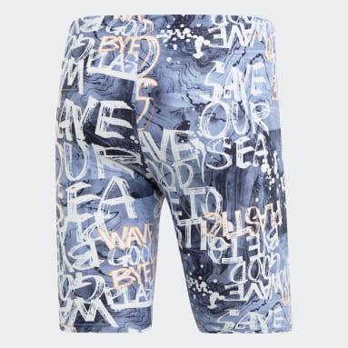 Shorts de Baño Largos Parley Azul Hombre Natación