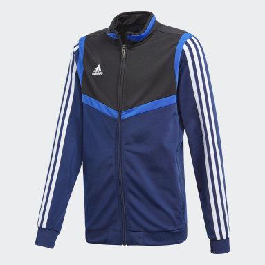 Kinder Fitness & Training Tiro 19 Polyester Jacke Blau