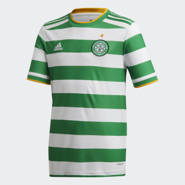 Kids Football White Celtic FC 20/21 Home Jersey