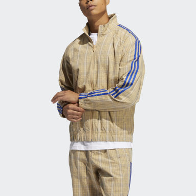 Men's Originals Beige SPRT Collection MW Track Jacket