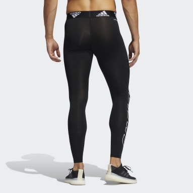 Men Training Black Football Hype Techfit Long Tights