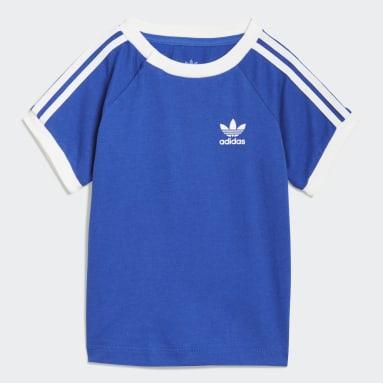 Kinder Originals 3-Streifen T-Shirt Blau