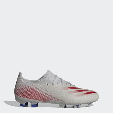 ผู้ชาย ฟุตบอล สีเทา รองเท้าฟุตบอล X Ghosted.3 Firm Ground