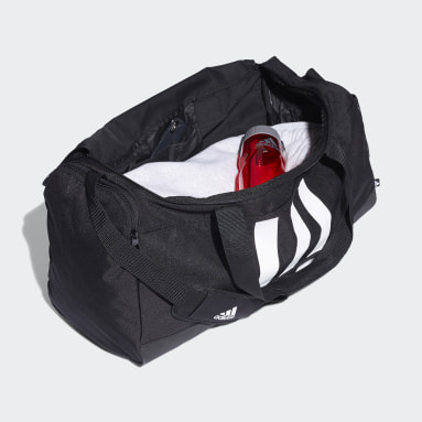 Lifestyle Black Essentials 3-Stripes Duffel Bag Medium
