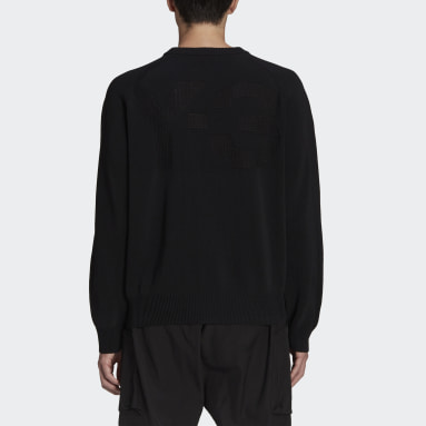 Men Y-3 Black Y-3 Classic Knit Crew Sweater