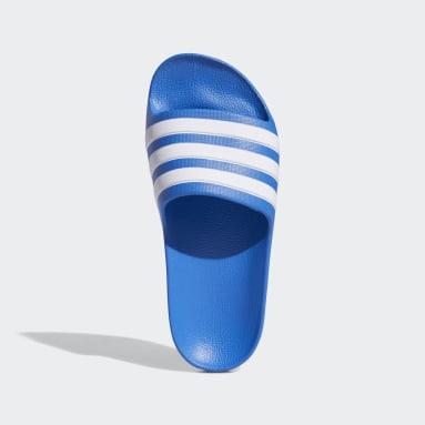 Kids Swimming Blue Adilette Aqua Slides