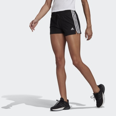 Short Essentials Slim 3-Stripes noir Femmes Sport Inspired