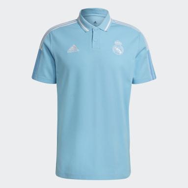 Polo Real Madrid Turquesa Hombre Fútbol