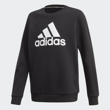 Boys Sport Inspired Black Must Haves Crew Sweatshirt