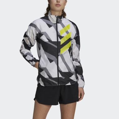 Women TERREX White Terrex Parley Agravic Trail Running WIND.RDY Windbreaker