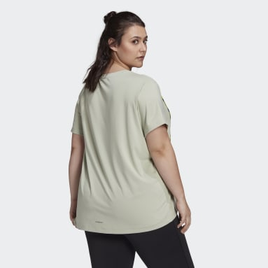 Women's Essentials Green adidas x Zoe Saldana AEROREADY Tee (Plus Size)