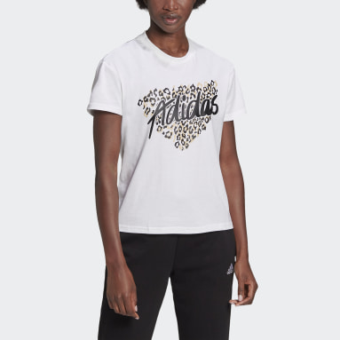 Women's Essentials White Leopard Graphic Tee