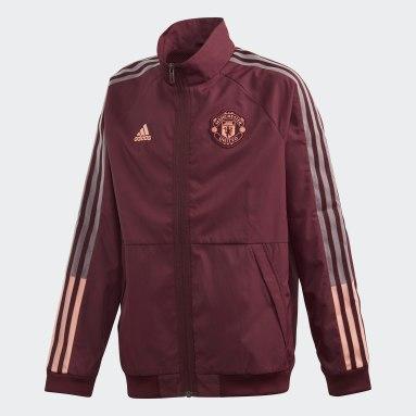 Chaqueta Himno Manchester United Burgundy Niño Fútbol