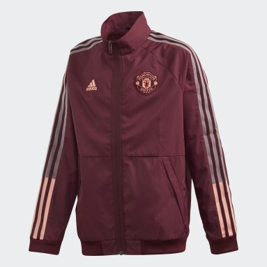 Children Soccer Burgundy Manchester United Anthem Jacket