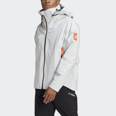 Men City Outdoor White MYSHELTER Rain Jacket
