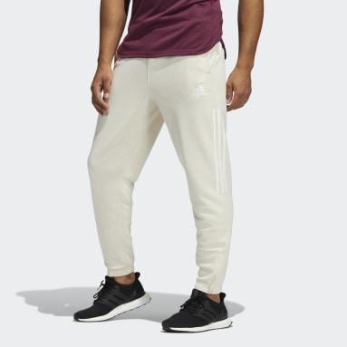 Men Gym & Training White PLR Knit Pants