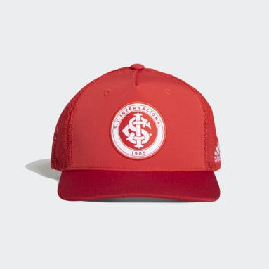 Boné Trucker Snapback Internacional Vermelho Futebol