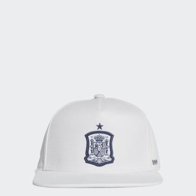 Football White Spain Snapback Cap
