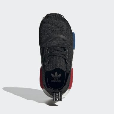 Kids Originals Black NMD_R1 Primeknit Shoes