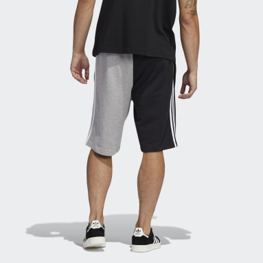 Men Originals Grey Blocked 3-Stripes Sweat Shorts