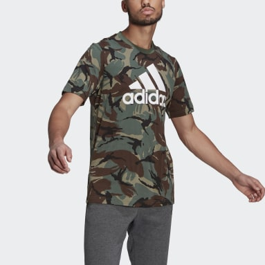 T-shirt Essentials Camouflage vert Hommes Essentials