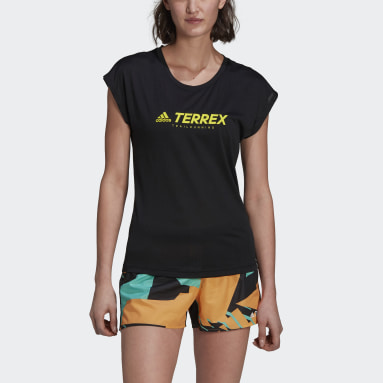 Women TERREX Black Terrex Primeblue Trail Functional Logo T-Shirt