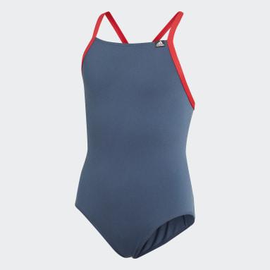 Maillot de bain Sports Performance Bleu Filles Natation