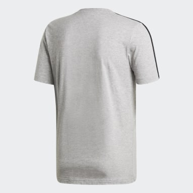 Camiseta Essentials 3 bandas Gris Hombre Sportswear