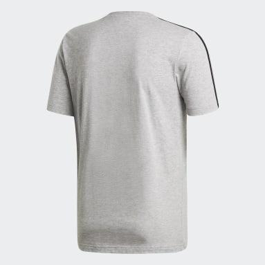 Erkek Training Gri Essentials 3 Bantlı Tişört