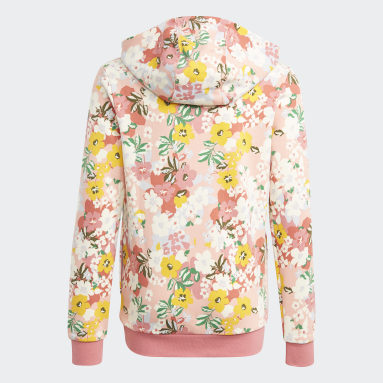 Girls Originals Pink HER Studio London Floral Hoodie