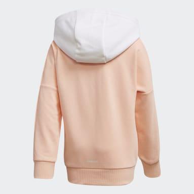 Girls Gym & Training Pink Branded Knit Jacket