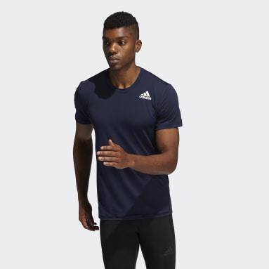 T-shirt Techfit Compression Blu Uomo Running