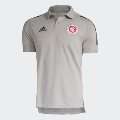 Camisa Polo Treino Internacional Cinza Homem Futebol