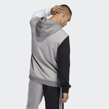 Men's Originals Grey Blocked Trefoil Hoodie