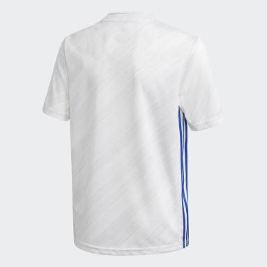 Maillot Leicester City FC 20/21 Extérieur Blanc Enfants Football