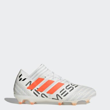 Calzado de Fútbol Nemeziz Messi 17.1 Terreno Firme Blanco Hombre Fútbol
