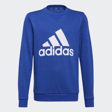 Blusa Moletom Essentials Azul Meninos Estilo Esportivo