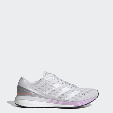 Women Running Grey Adizero Boston 9 Shoes