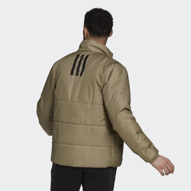 Men City Outdoor Green BSC 3-Stripes Insulated Winter Jacket