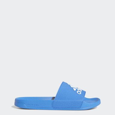 Muži Plavání modrá Pantofle Adilette Shower