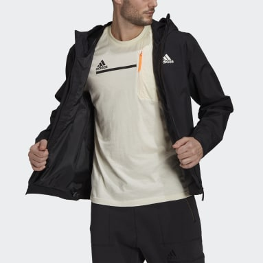 Men's Hiking Black BSC 3-Stripes RAIN.RDY Jacket