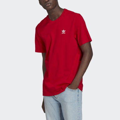 T-shirt LOUNGEWEAR adicolor Essentials Trefoil Rosso Uomo Originals