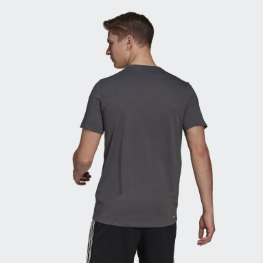 Men Gym & Training Grey AEROREADY Designed 2 Move Sport T-Shirt